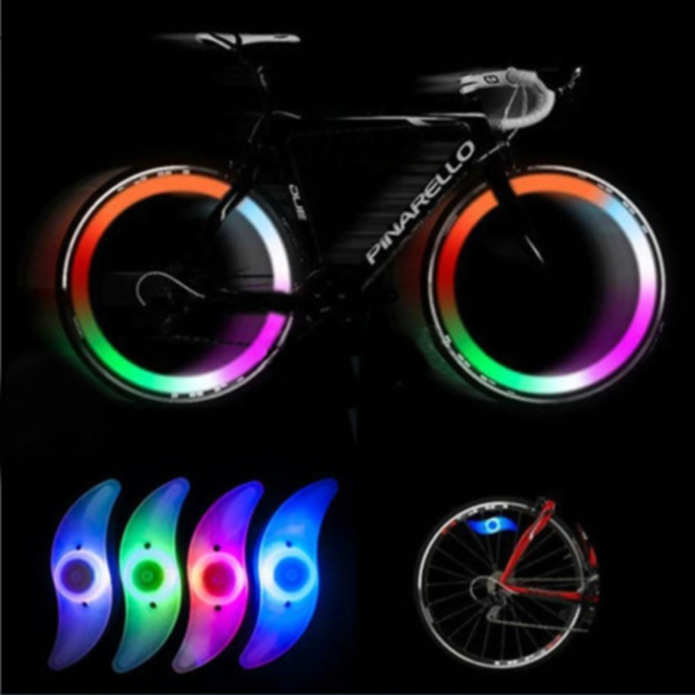 NEW Bicycle Spokes Lamp Cycling Bike Willow LED Wheel Wire Lights Waterproof Bike Cycling Lamp Tire Valve Caps Wheel