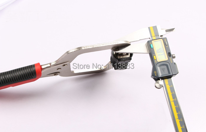 """Купить с кэшбэком 11"""" inch Face Clamp Locking C-Clamp Pliers Easy Quick Release For Dowelling Jig and Pocket Hole Jig Woodwork Construction Joint"""