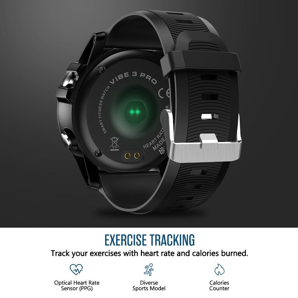 Zeblaze VIBE 3 PRO écran tactile couleur sport Smartwatch fréquence cardiaque IP67 étanche météo à distance musique hommes pour IOS et Android - 3