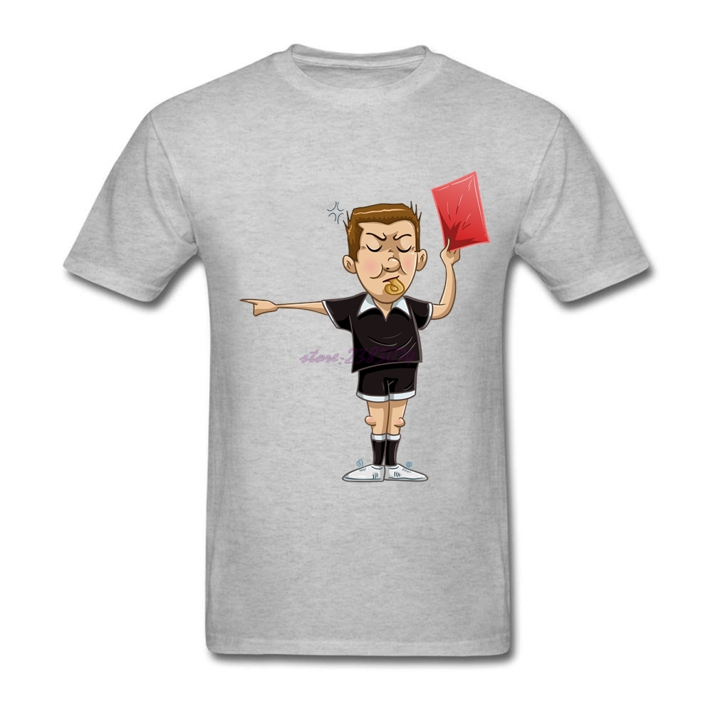 Shirt design card - Comfortable Referee Holds Red Card Man S Tees Men Natural Cotton Crew Neck Short Sleeves Shirts Cool Shirt Designs