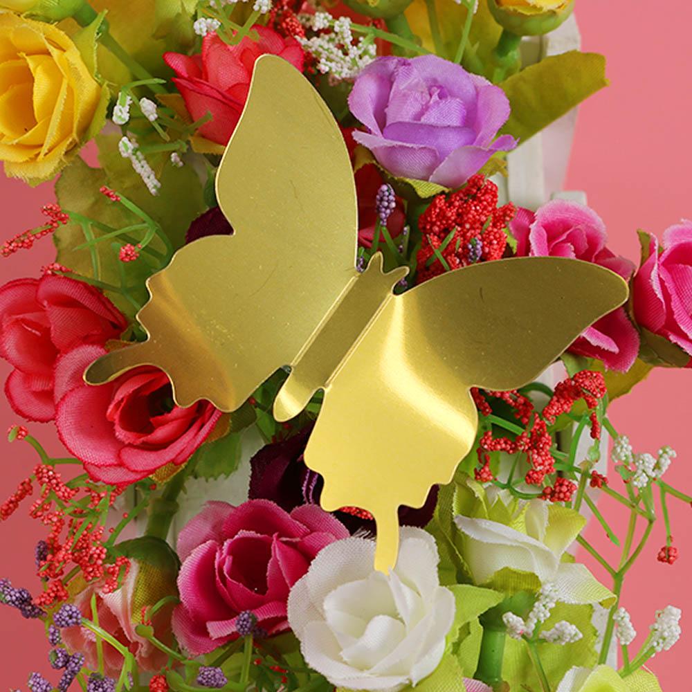 12pcs/set Popular Mirror Wall Stickers Art Decal Butterflies PVC ...