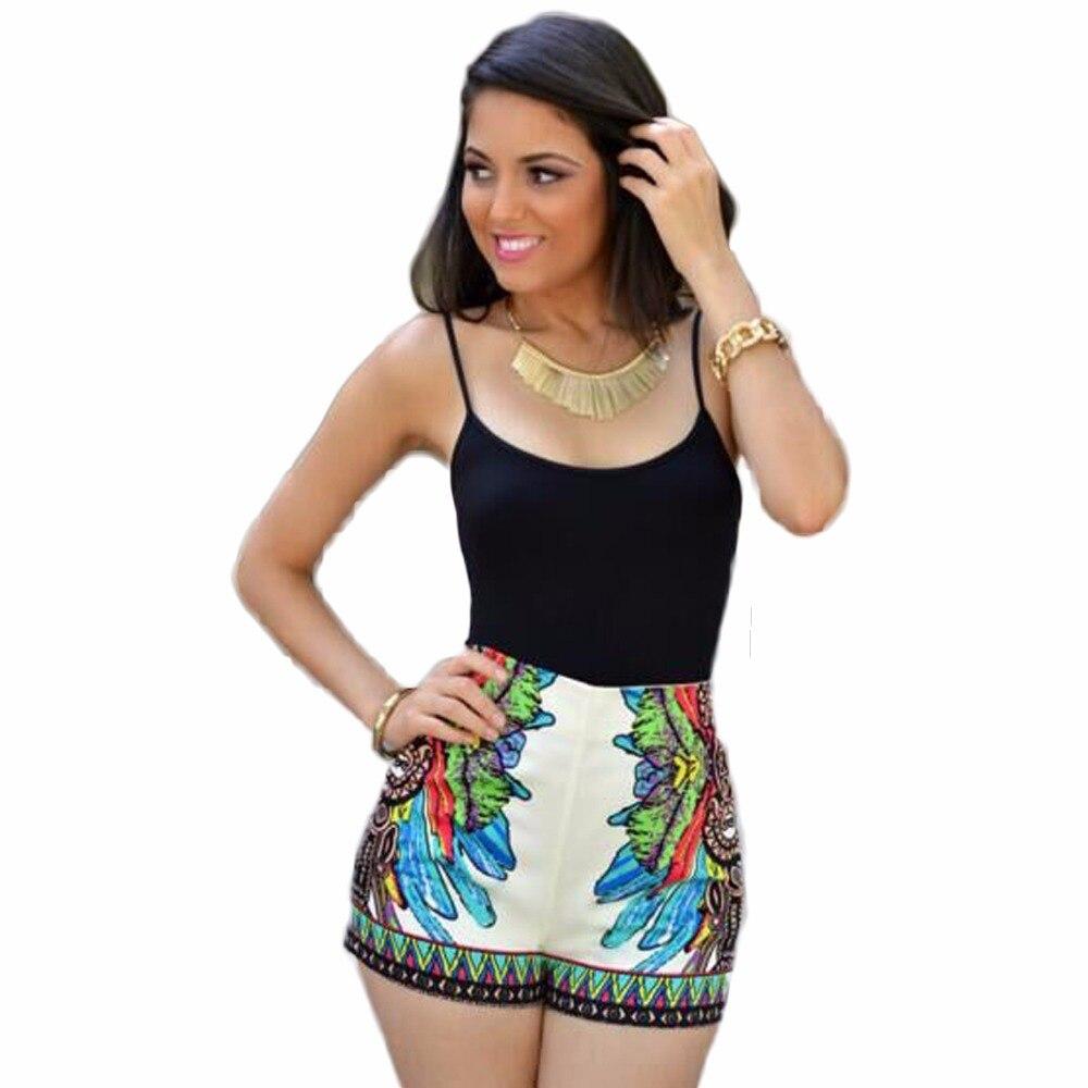 Adogirl 2018 Summer New Women Nightclub Style Sexy Jumpsuits Printed Sling Slim Sexy Fashion Beach Wear Bodysuits Shorts