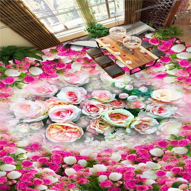 Online Shop beibehang Fantasy classic rose ocean living room ...