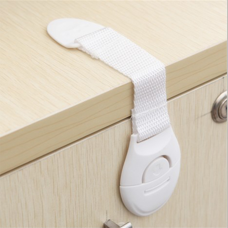 Baby 10Pcs/Lot Safety Locks Lengthen Drawer Door Cabinet Kids Cupboard Strap Safety Locks Plastic Children Protection Care Locks