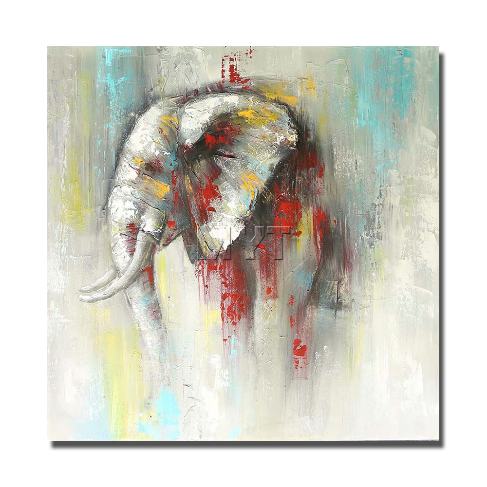 Watercolour Elephant Painting Quality 100/% cotton Canvas wall home decor canvas