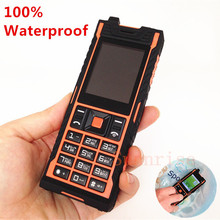 100% ip67 wasserdicht stoßfest handy dual sim mp3 handy russian sprache h-mobile aole