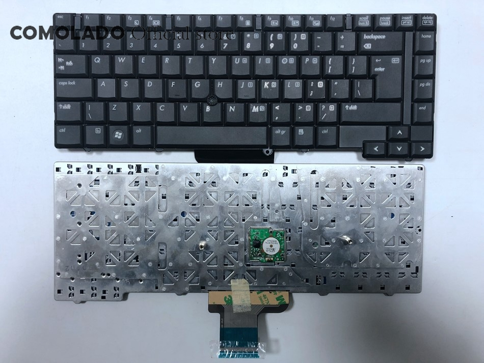 90%NEW UI Laptop Keyboard For HP 8530 8530W 8530P With pointing stick laptop keyboard UI layout image