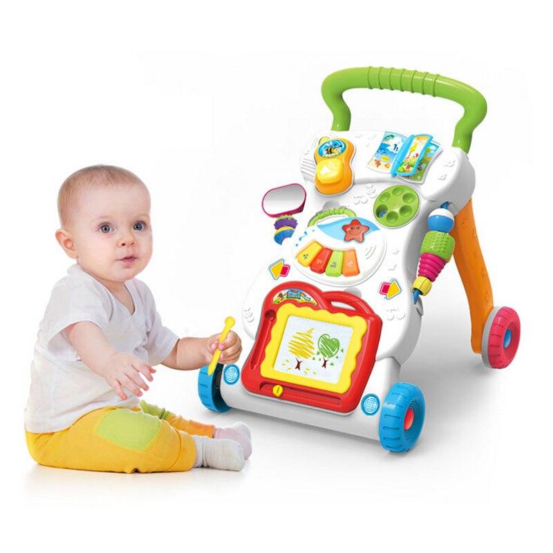 Nouveau bébé multifonction avec musique peut vitesse marcheur pour bébé marcheur poussette bébé hochets jouets