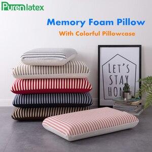 Image 2 - PurenLatex 60*40*12 Big Memory Foam Oblong Strips Soft Orthopedic Pillow Spondylosis Eczema Prevented Cervical Vertebra Pillow