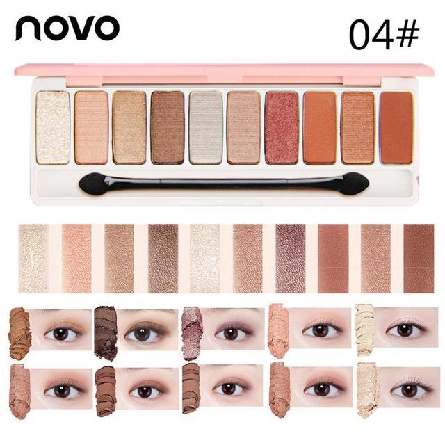NOVO fashion 12 colors matte eyeshadow Palette Glitter