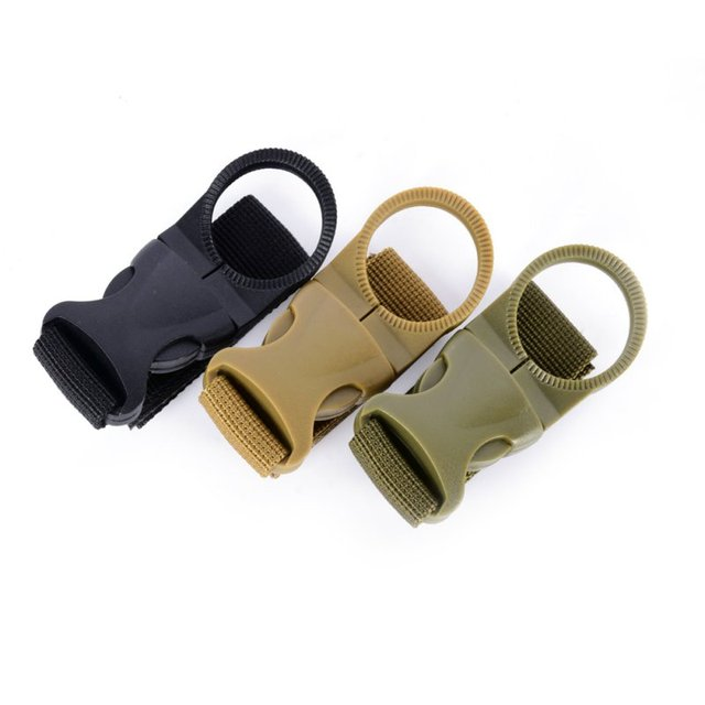 New High Quality Outdoor Tactical Nylon Webbing Buckle Hook EDC Climb Carabiner Belt Backpack Hanger Water Bottle Holder Clip