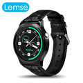 Lemse gw01 smart watch mtk2502 apoyo huawei moto 360 bluetooth smartwatch podómetro tasa de calor para apple ios android teléfono
