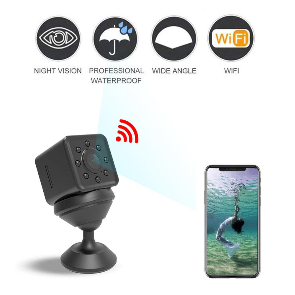 SQ13 <font><b>WIFI</b></font> <font><b>mini</b></font> <font><b>Camera</b></font> Wireless <font><b>Mini</b></font> Camcorder Micro Cam DVR Video Recorder Waterproof Outdoor Sports DV Support Hidden TF card image