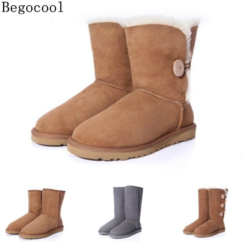 4e195668074 Begocool Marca Mujeres zapatos de Invierno botines de Moda Para Mujer  Caliente de la Piel Peludo