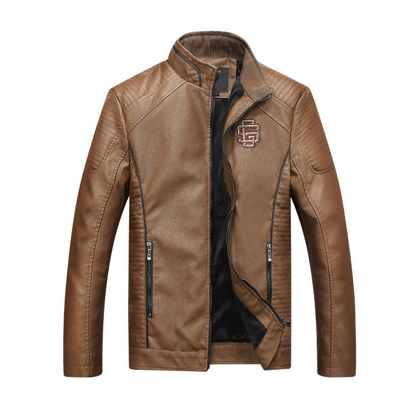 kaki D'hiver Veste 1 3 vent 2017 Manteau color Color Moto Chaud En Vêtements Cuir Coupe Pu Hommes Pardessus Coton Mode Vestes CPwRqn8T