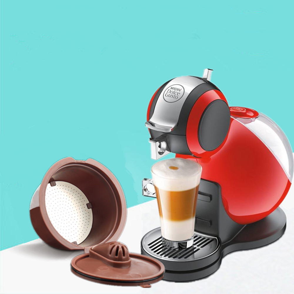 ICafilas Coffee Filters For Nescafe Dolce Gusto Reusable Refillable Dolci Gusto Coffee Capsule Pod Rich In Crema