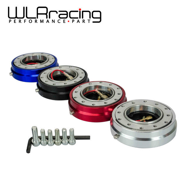 WLR RACING - 4 Colors,Thin Version 6 Hole Steering Wheel Quick Release Hub Adapter Snap Off Boss kit WLR3858