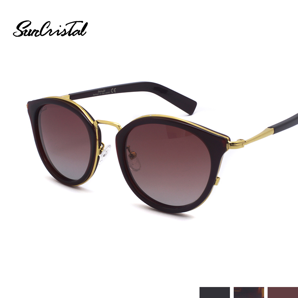 Fashion Frauen brown Designer Sonnenbrille Marke Strahl Metall Versand 1104 Eye Klassische Runde Brillen Cat Kostenloser Wine Red Dame black 1w84H