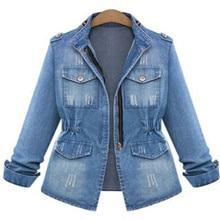 NEW Autumn Fashion Star Models the Old Wild Slim Washed Denim Jacket Coat for Women Girl