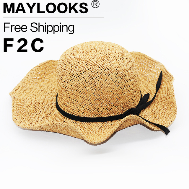 Fashion Beautiful Adult cap  Straw hat Summer Sun Beach Sun cap Hat Girl Women's cap sun hats for women kentucky derby hat HN04