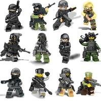 HOT MILITARY little figure doll the wraith assault Soldier Building blocks Action Figure Toys For children mini 51000