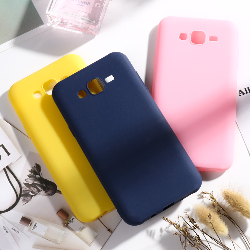 For <font><b>Samsung</b></font> Galaxy J7 2015 Case Cover Candy Color Soft Tpu Back Cover Coque For <font><b>Samsung</b></font> J7 J700 J700F <font><b>J700H</b></font> <font><b>SM</b></font>-J700F Case Fundas image