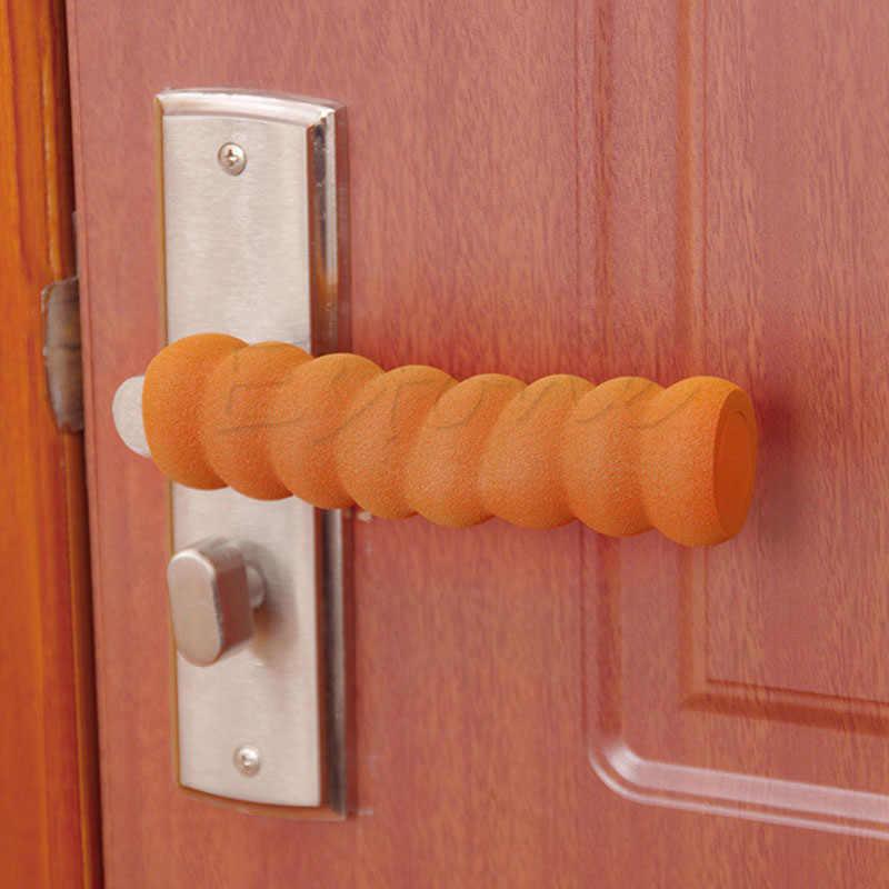 1x Дверная ручка защитное ребенка безопасность дверная ручка спиральный рукав покрытие безопасно