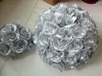 SPR 40cm silvery plastic inner silvery kissing flower ball holiday decoration wedding party decoration