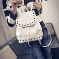 2015 Brand designer women Simple Style backpack fashion PU leather Black school bag for girls large capacity shoulder XA1238B
