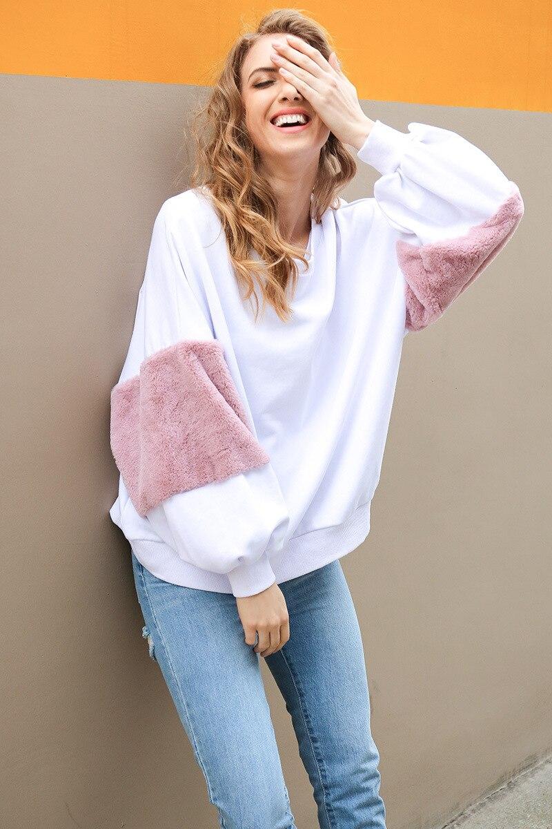 2018 Neue Mode Sweatshirt Frauen Frühling Herbst Frauen Sweatshirt Casual Wear Plus Größe Mantel Frauen Kleidung Geschickte Herstellung