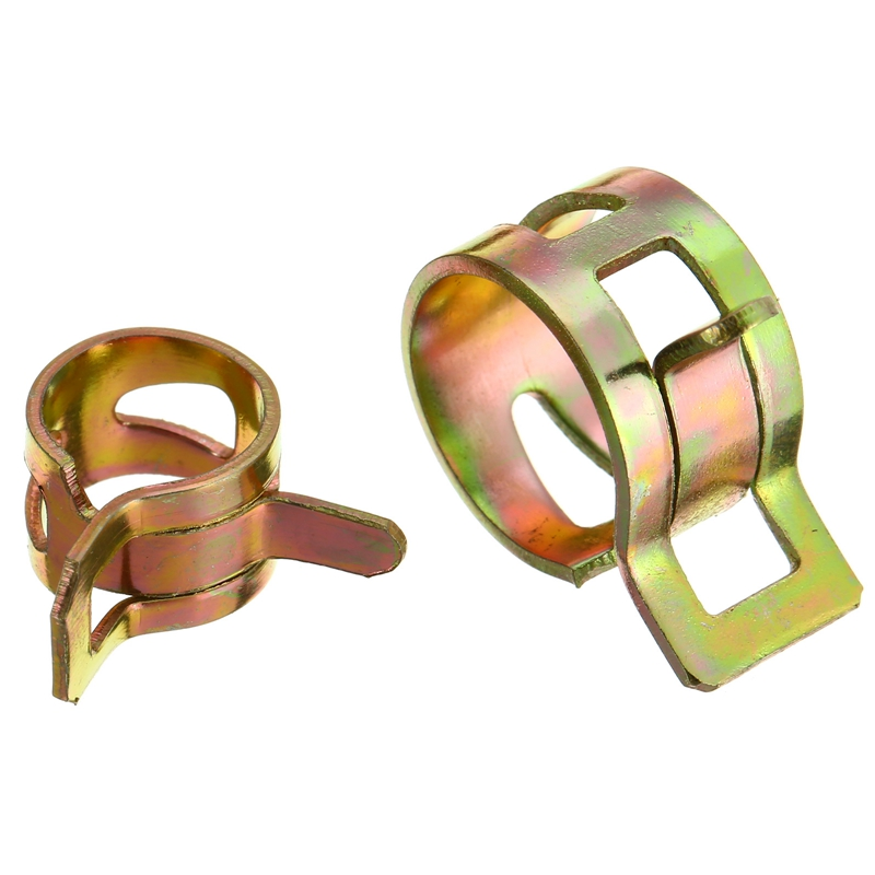 Mayitr 100pcs 6-22mm Spring Clip Fuel Line Hose Water Pipe Air Tube Clamp Fastener Automotive Cooling System Parts 6 8mm refrigerator parts copper fitting clip universal coil pipe clip