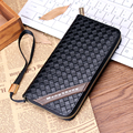 New arrival brand men's wallets quality fashion long clutch travel coin money purse card holders knitting women mini handbags