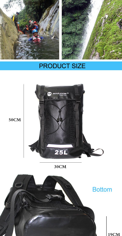 Topdudes.com - 25L Waterproof Travel PVC Dry Bag