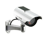 1 PCS Solar Power Imitation High Simulation CCTV Camera Dummy Camera Fake Monitor Waterproof Outdoor Surveillance