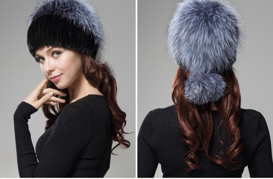 fur woman winter hats PCM012 (23)