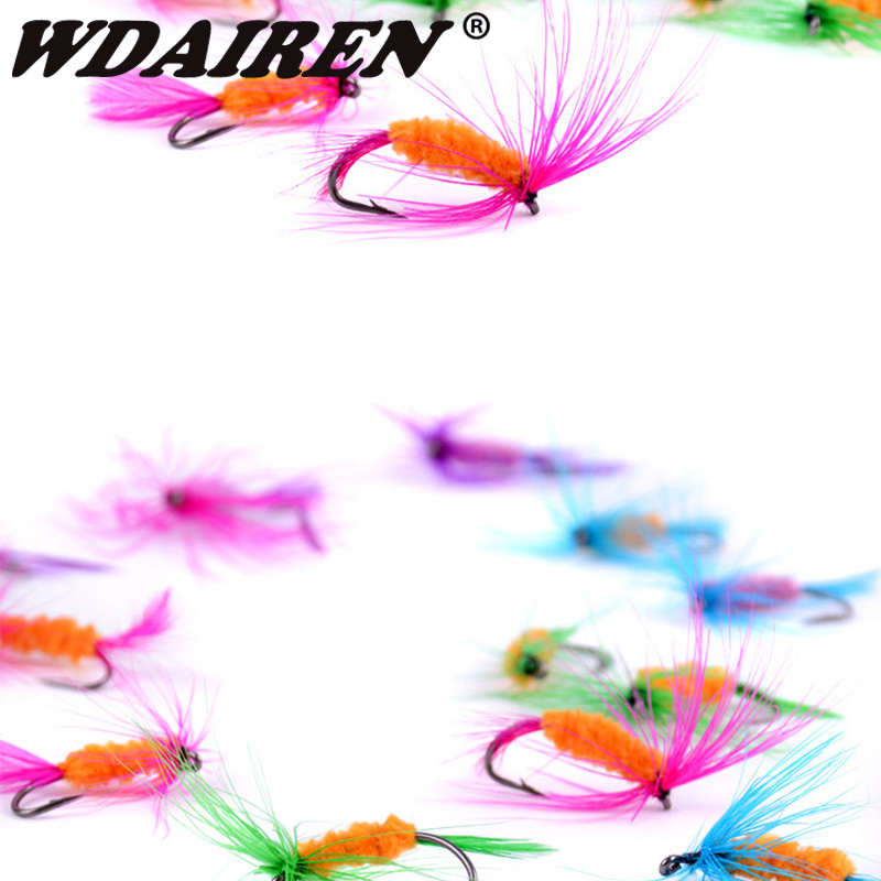 12Pcs/Set Insects Flies Fly Fishing Lures Bait High Carbon Steel Hook Fish Tackle With Super Sharpened Crank Hook Fishing Tackle 6