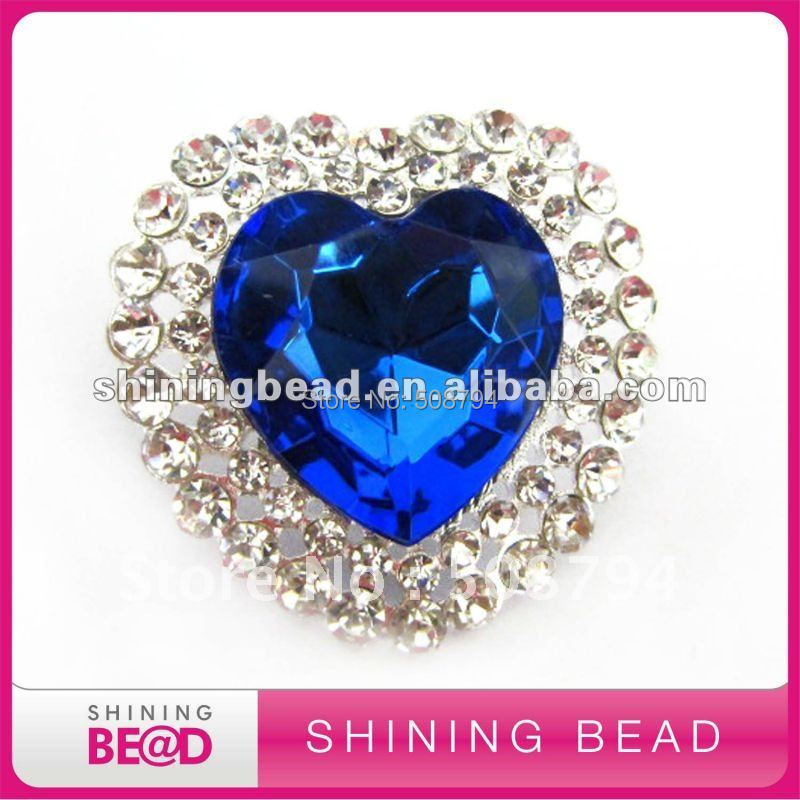 hot sale heart shape rhinestone brooch with pin,free shipping,heart Of ocean brooch with pin,new design rhinestone brooch