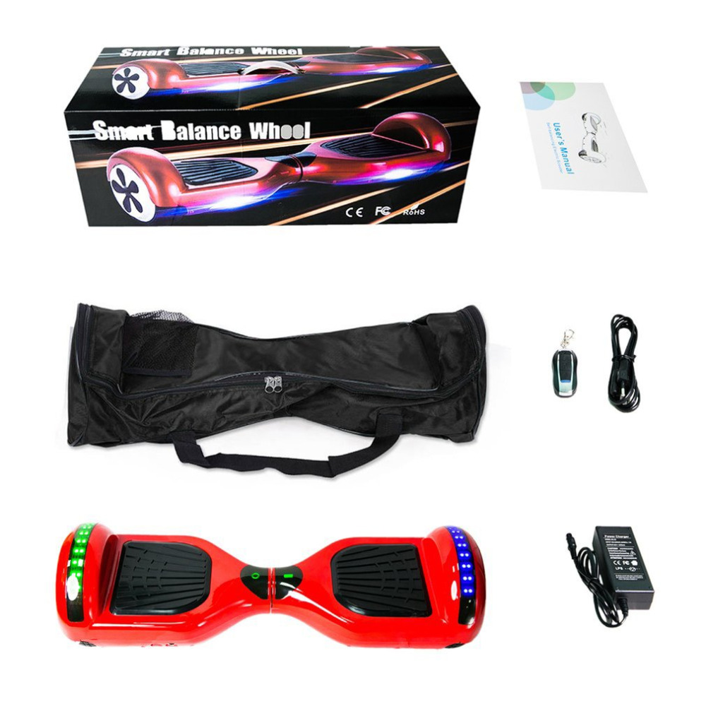 цена на 6.5 Inch koowheel Strong Power Skateboard Hoverboard 2 Wheels Self Balance Scooters With Carry Bag EU scooter electrico