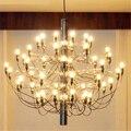 Led luz pingente de cromo ouro corpo 18/30/50 cabeças pingente lâmpada acende iluminação lluminaire bar cozinha iluminação jantar