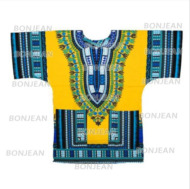 2019 Dashiki Fashion Design African Traditional Printed 100% Cotton Dashiki T-shirts For Unisex Tribal Ethnic Succunct Hippie
