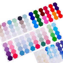 30packs/lot Memo Stickers Gradient Color Hexagon Index Classification Study Office Supplies Sticky Notes Party Gift