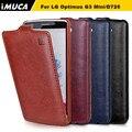 Бренд IMUCA Телефон Случаях Для LG Optimus G3 Mini D725 Чехол Вертикальная флип Защитный Чехол Для LG G3S Mini G3 D724 D722 D728 D725 чехол