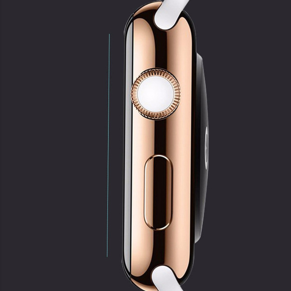 CRESTED 2 pcsTempered glass protective film for apple watch 42mm/38 Anti-Shock Transparent Screen Protector film for iwatch 1 2 стоимость