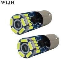 Здесь можно купить  WLJH 2pcs White Canbus Error free Led  lamps 3W 380-400lm 15 4014SMD 12V  NO PLORITY Signal LED Light Bulbs Car for BMW