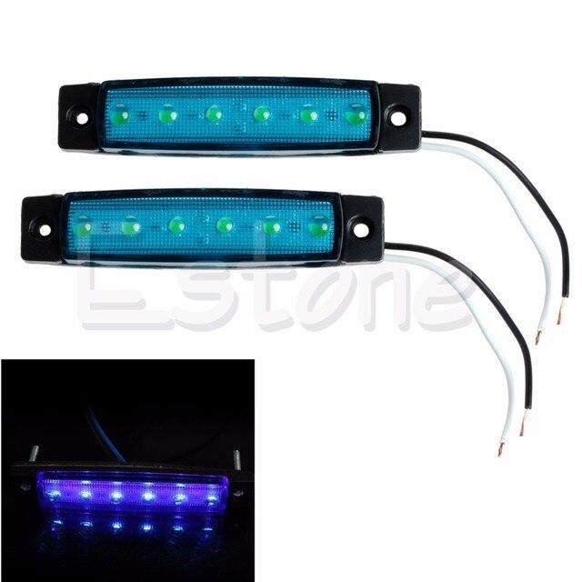 2x Red 6 LED Lkw Bus Bootsanhänger Seitenmarkierungs Schwanz ...