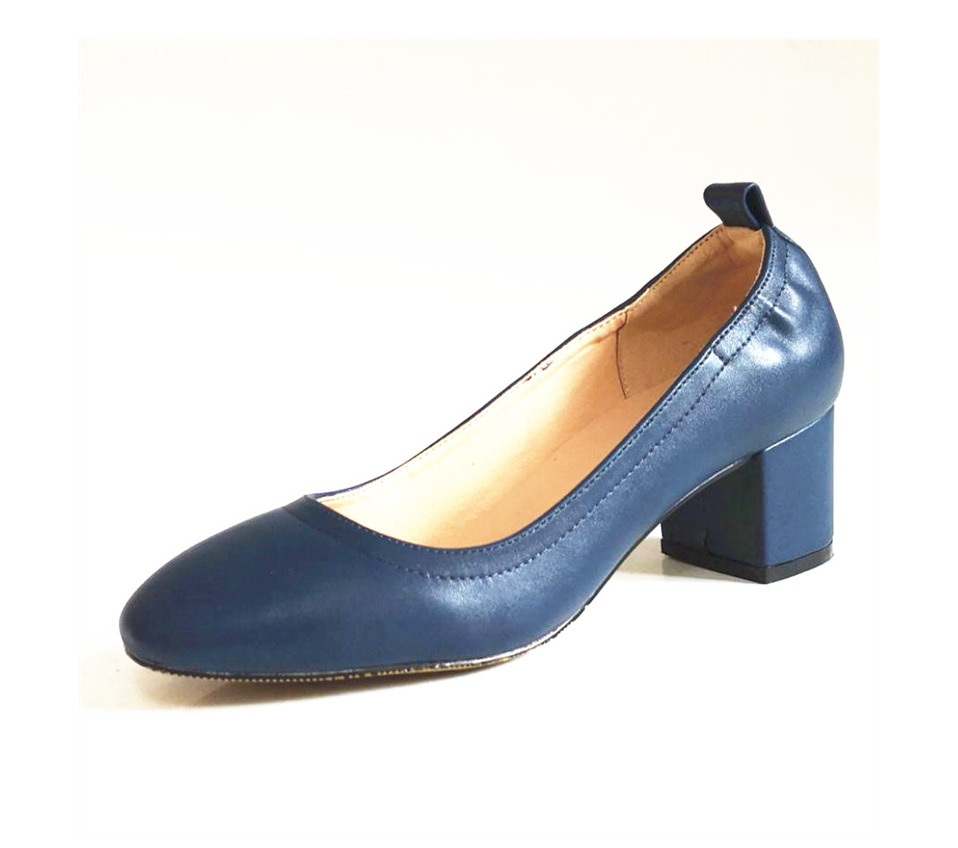 Shoes Women Genuine Leather Fashion Office and Career Rounded Toe 2-inch Block Heel Fashion Office Lady Pumps Size 34-41, K-307 53