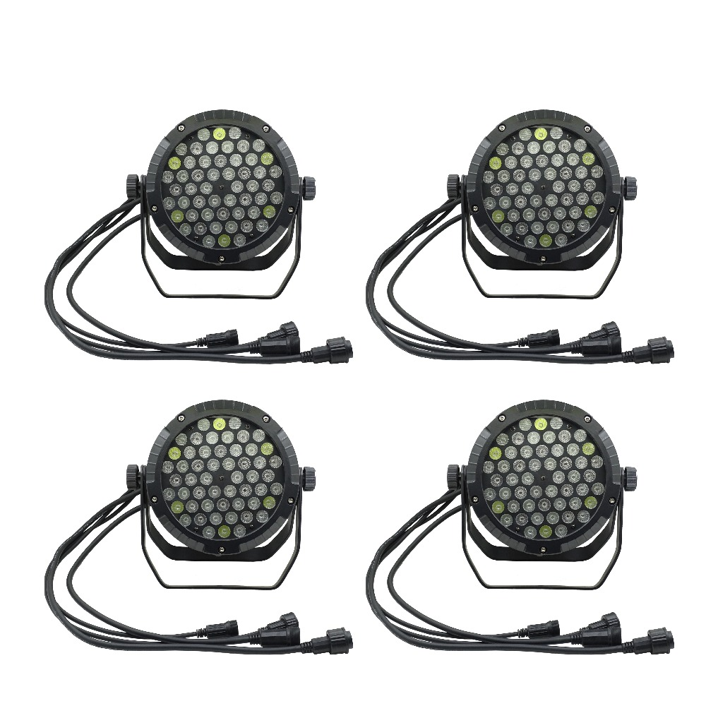 Bright 4pcs/lots Ip65 Waterproof Led Par Light 54*3w Outdoor Rainproof Stage Light 54x3w Led Par 64 Wall Washer Wedding Stage Light Aromatic Flavor Commercial Lighting