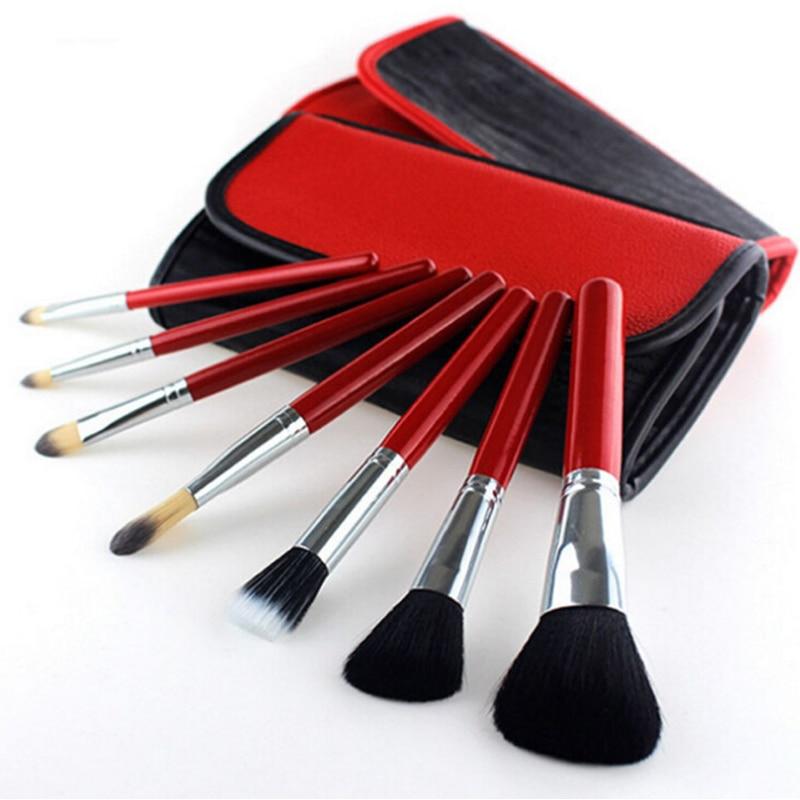 Eye Shadow Make Up Brushes 10pcs/set Professional Goat Hair Wood Handle Women Foundation Makeup Brushes With Bag Beauty Tool Kit