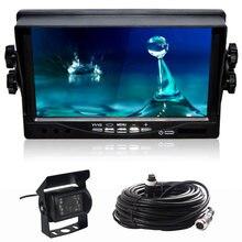 Monitor lcd tft de 7 polegadas para caminhão, câmera reversa de led para estacionamento de caminhão e ônibus, monitores s dc 9v-35 monitores de carro v