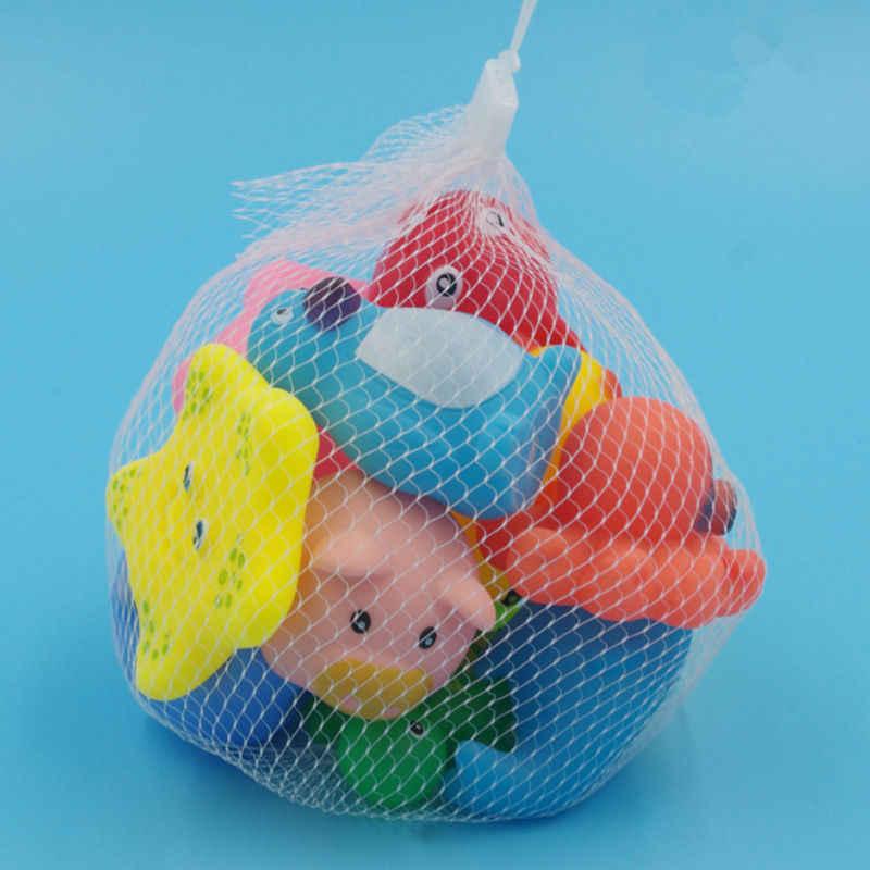 13 шт./Партия Детские игрушки для ванной животные резиновая утка детские игрушки для купания плавающий Сжимаемый писклявый звук игрушки для купания